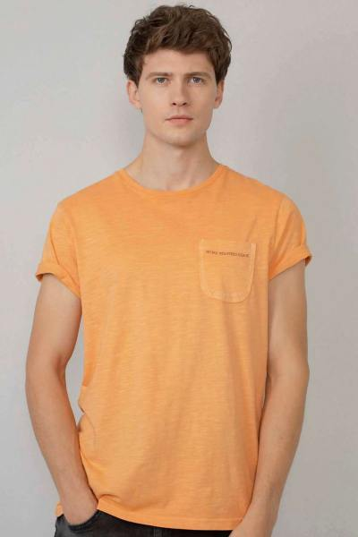 Tee-shirt orange pastel homme