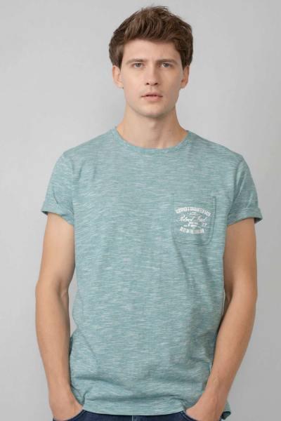 T-shirt vert chiné