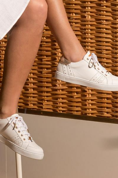 Sneakers femme en cuir blanches