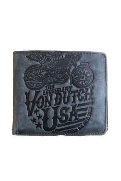 Vintage schwarz Leder Brieftasche