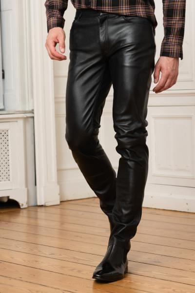 Pantalon en cuir homme