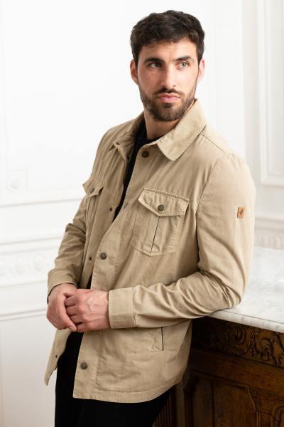 Veste sur-chemise beige