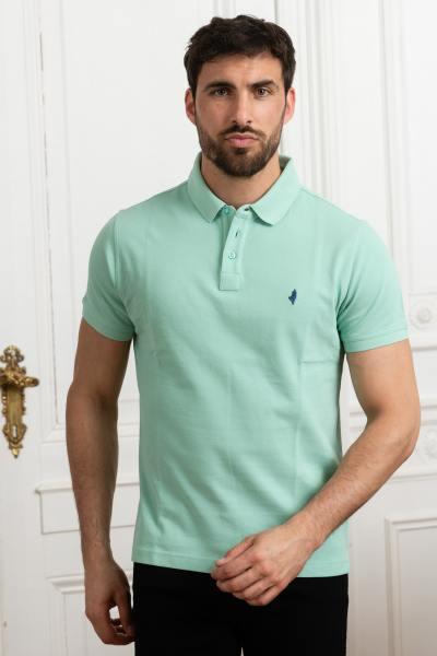 Polo homme vert pastel