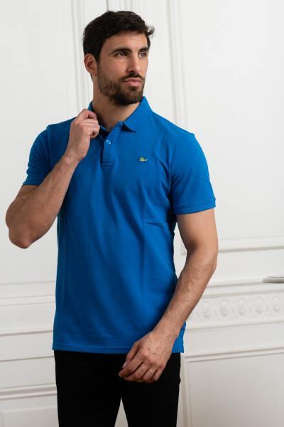 Polo homme bleu azur