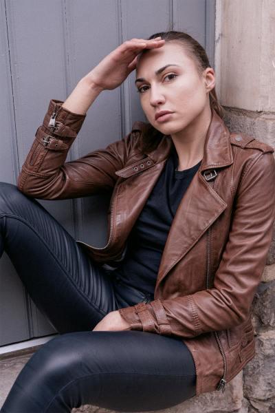 Blouson Perfecto cuir marron