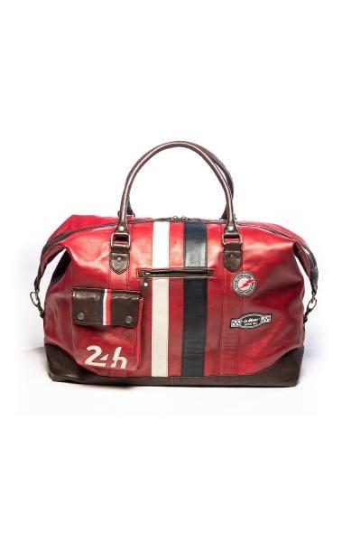 Reisetasche 72h in rotem Vintage-Leder