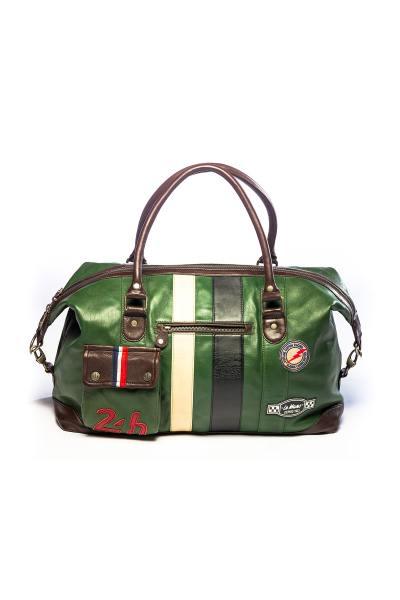 Leder-Reisetasche grün 48h