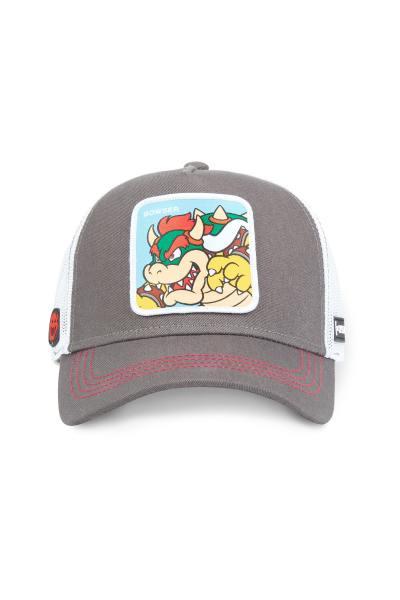 Graue Bowser-Mütze