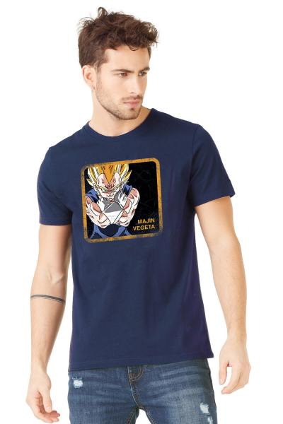 T-shirt bleu marine Majin Vegeta Dragon Ball