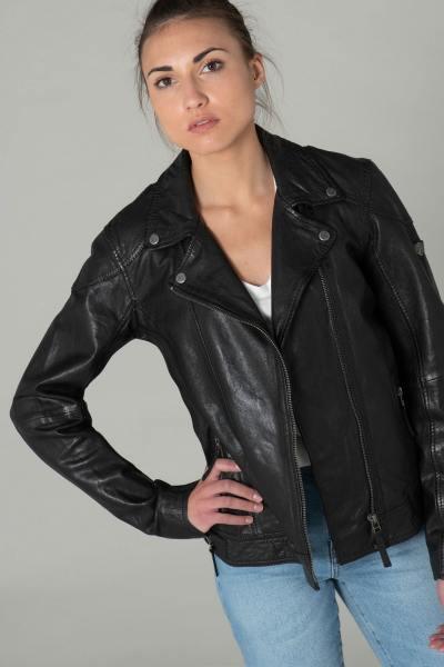 Jacke im Perfecto-Stil aus pflanzlichem Lammleder