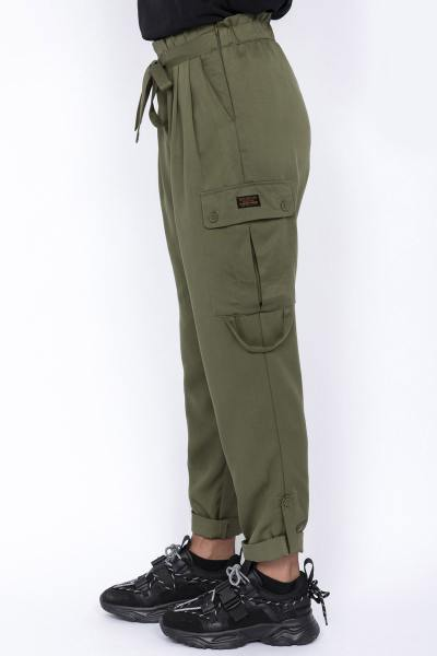 Damen-Cargo-Hose in Khaki