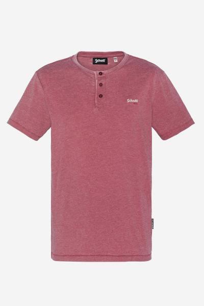 Tee-shirt rouge effet délavé