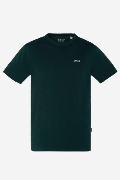 Dunkelgrünes Baumwoll-T-Shirt