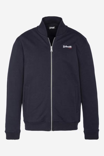Marineblaue Jacke mit Reißverschluss