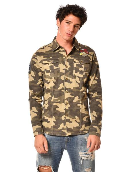 Chemise homme camouflage