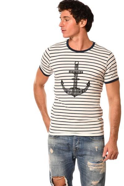 T-shirt marinière logo ancre