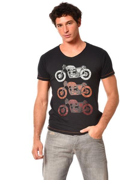 T-shirt noir moto