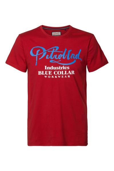Rotes Jungen-T-Shirt mit Rundhalsausschnitt