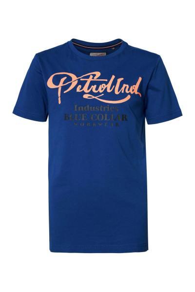 T-shirt col rond bleu