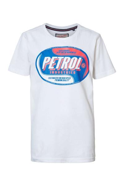 T-shirt blanc logo poitrine
