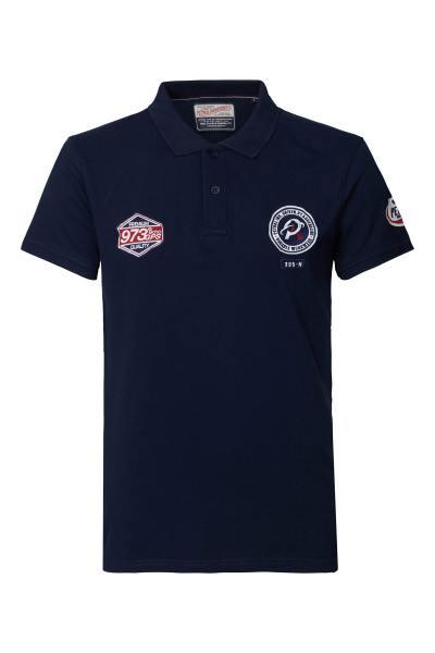 Poloshirt für Jungen navy blau