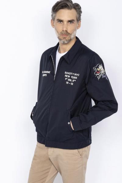 Retro US Navy Blau Jacke