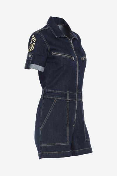 Combi short en jean