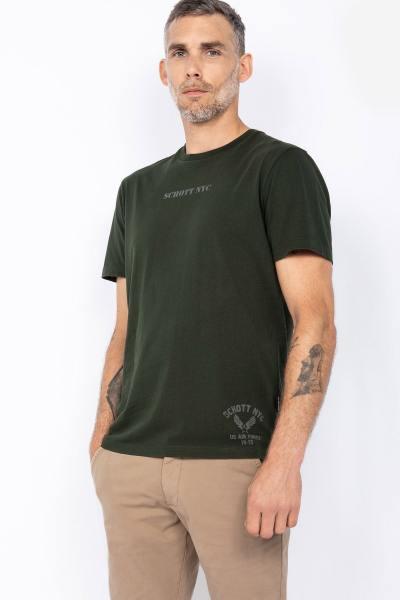 Khaki Militär-T-Shirt