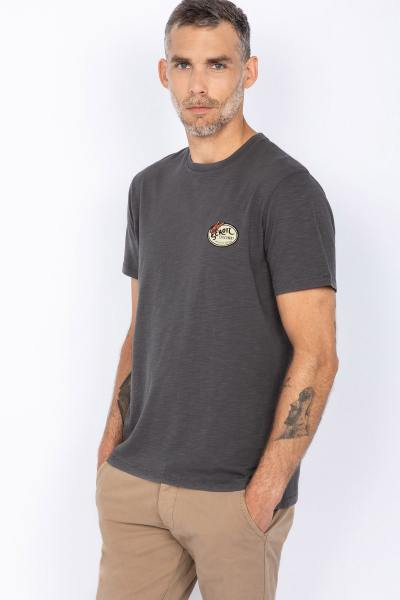 Tee Shirt Mann dunkelgrau