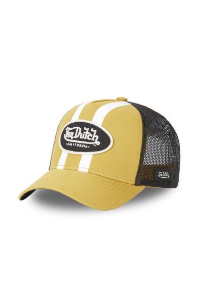 Gelbe und schwarze Trucker-Kappe