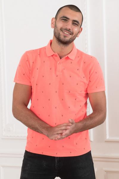 Polo homme corail