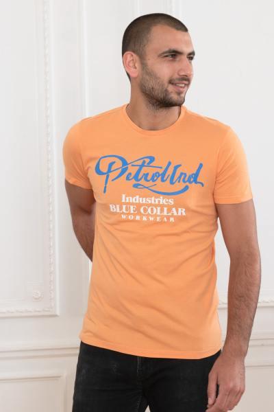 T-shirt homme orange