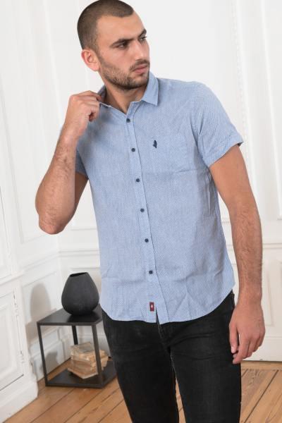 Chemise à manches courtes bleue ciel