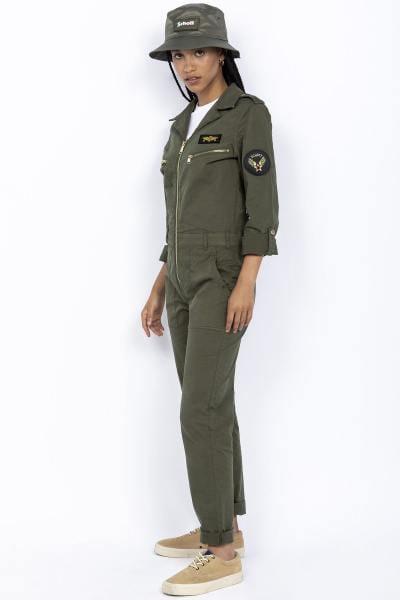 Combinaison army kaki femme