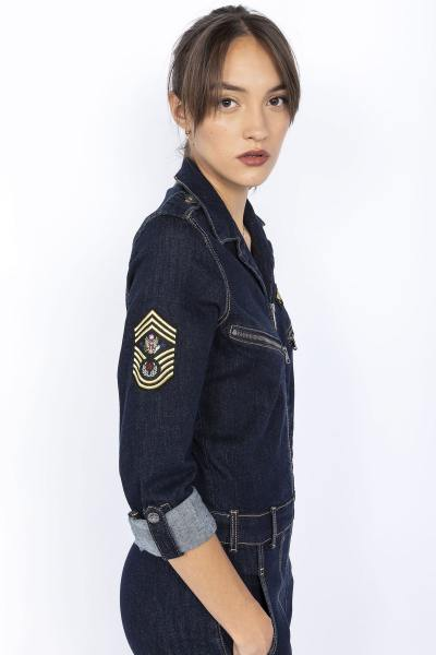 Combinaison style army en jean