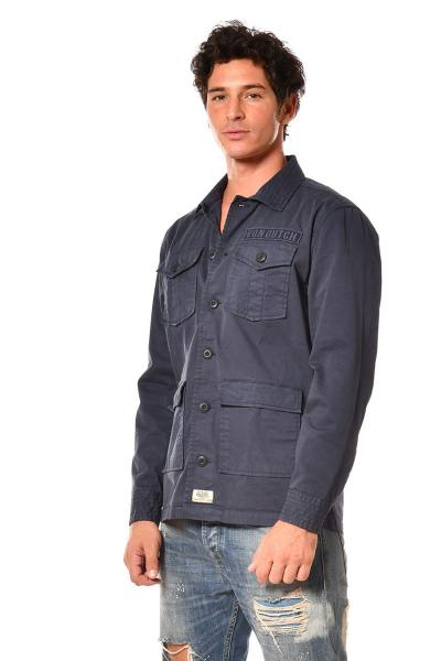 Veste chemise militaire bleu marine