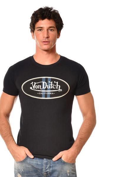 T-shirt homme noir col rond