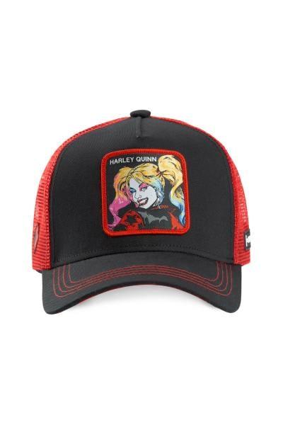 Harley Quinn schwarz-rote Mütze