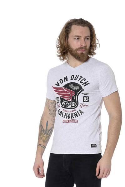 Tee-shirt blanc esprit motard