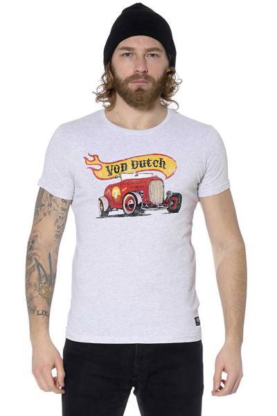 Tee-shirt blanc racing