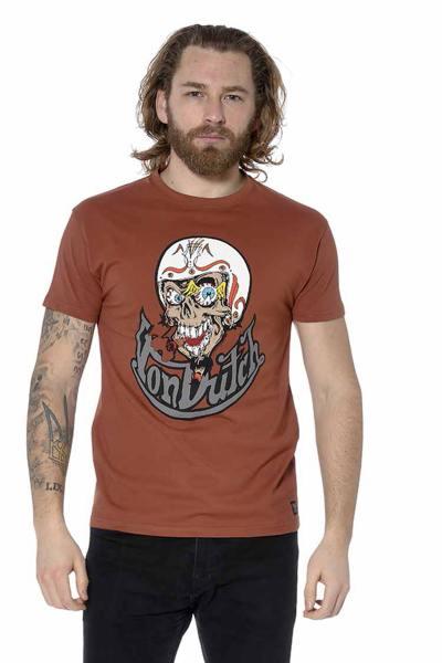 T-shirt biker homme couleur rouille