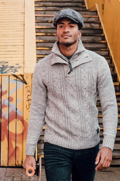 Off-white Raglan-Pullover aus Grobstrick