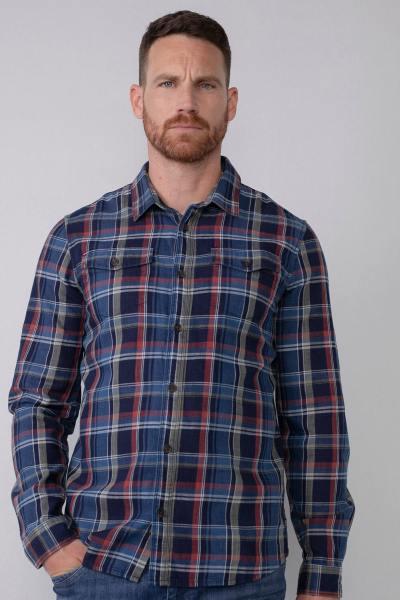 Chemise de bûcheron bleu et rouge