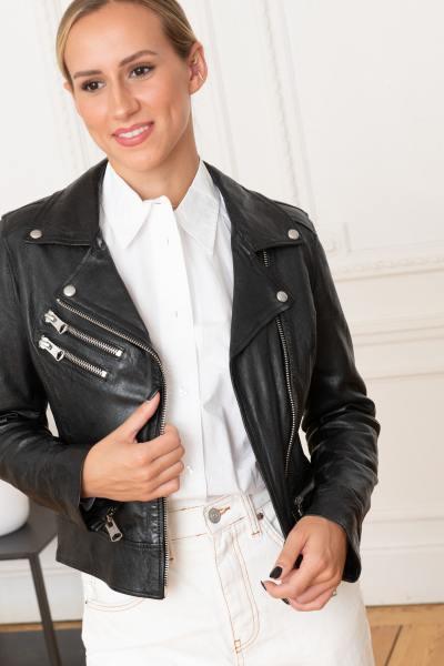 Perfecto Jacke aus echtem Leder
