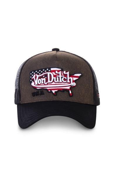 Braune und schwarze Mütze USA