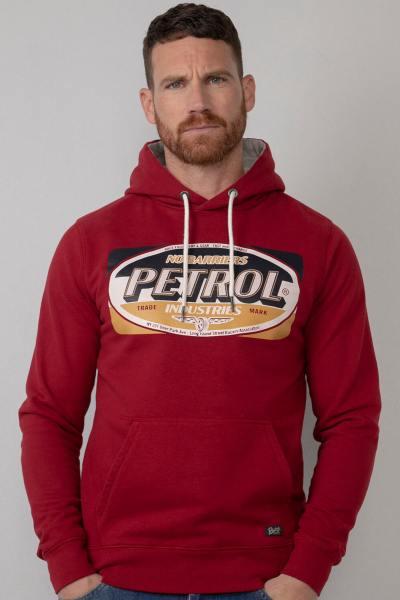 Sweatshirt mit Kapuze für Männer rot