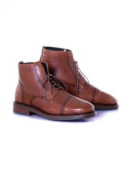 Boots cognac homme Le Formier