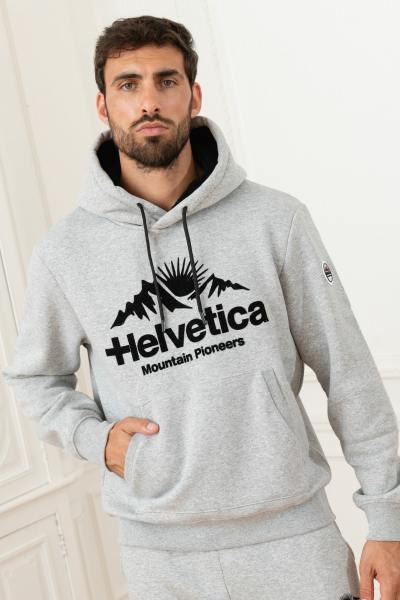 Grau melierter Streetwear-Pullover