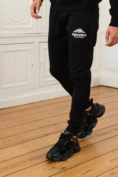 Schwarze Streetwear-Hose aus Baumwolle