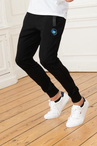 Schwarze Stretch-Jogginghose